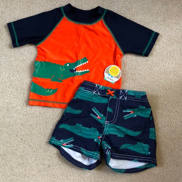 38d8deb994 Carter's Swim | Nwt Carters Rash Guard Trunks Shorts Set | Poshmark